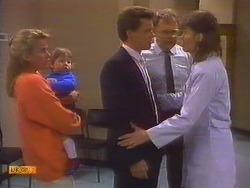 Bronwyn Davies, Jamie Clarke, Paul Robinson, Harold Bishop, Beverly Marshall in Neighbours Episode 0818