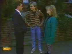 Paul Robinson, Nick Page, Sharon Davies in Neighbours Episode 0818