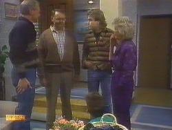 Jim Robinson, Harold Bishop, Todd Landers, Nick Page, Helen Daniels in Neighbours Episode 0819