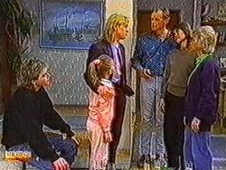 Nick Page, Katie Landers, Scott Robinson, Jim Robinson, Beverly Robinson, Helen Daniels in Neighbours Episode 0821