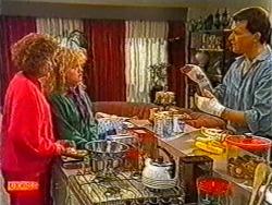 Madge Bishop, Sharon Davies, Des Clarke in Neighbours Episode 0821
