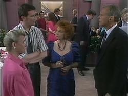 Helen Daniels, Des Clarke, Gloria Lewis, Jim Robinson in Neighbours Episode 1138