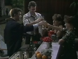 Paul Robinson, Des Clarke, Christina Alessi, Caroline Alessi in Neighbours Episode 1139