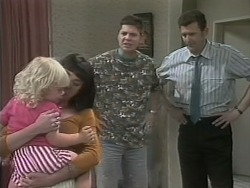 Sky Mangel, Kerry Bishop, Joe Mangel, Des Clarke in Neighbours Episode 1139