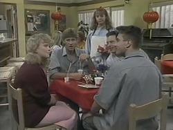 Sharon Davies, Ryan McLachlan, Lee Maloney, Matt Robinson, Nick Page in Neighbours Episode 1140