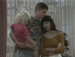 Sky Mangel, Joe Mangel, Kerry Bishop in Neighbours Episode 1140