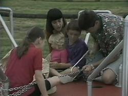 Lochy McLachlan, Kerry Bishop, Sky Mangel, Toby Mangel, Joe Mangel in Neighbours Episode 1140
