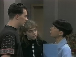 Matt Robinson, Lee Maloney, Hilary Robinson in Neighbours Episode 1141