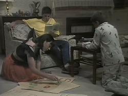 Kerry Bishop, Joe Mangel, Toby Mangel in Neighbours Episode 1141