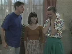 Joe Mangel, Kerry Bishop, Noelene Mangel in Neighbours Episode 1142