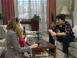 Melanie Pearson, Sky Bishop, Joe Mangel in Neighbours Episode 1330