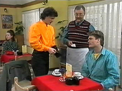 Rory Marsden, Harold Bishop, Adam Willis in Neighbours Episode 1331