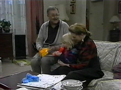 Harold Bishop, Sky Mangel, Melanie Pearson in Neighbours Episode 1331