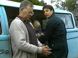 Harold Bishop, Sky Mangel, Joe Mangel in Neighbours Episode 1331