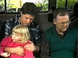 Sky Mangel, Joe Mangel, Harold Bishop in Neighbours Episode 1335