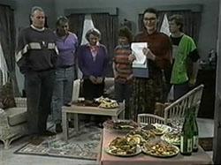 Jim Robinson, Doug Willis, Helen Daniels, Pam Willis, Dorothy Burke, Ryan McLachlan in Neighbours Episode 1336