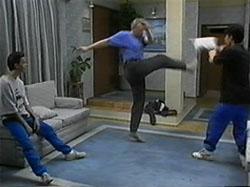 Todd Landers, Jim Robinson, Josh Anderson in Neighbours Episode 1336