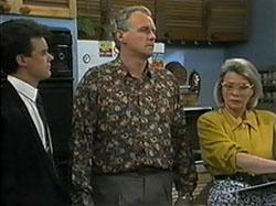 Paul Robinson, Jim Robinson, Helen Daniels in Neighbours Episode 1336