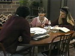 Josh Anderson, Cody Willis, Melissa Jarrett in Neighbours Episode 1337