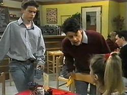Todd Landers, Josh Anderson, Melissa Jarrett in Neighbours Episode 1337