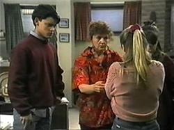 Josh Anderson, Pam Willis, Melissa Jarrett, Cody Willis in Neighbours Episode 1337