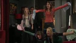 Elle Robinson, Paul Robinson, Rachel Kinski, Bridget Parker, Donna Freedman in Neighbours Episode 5553