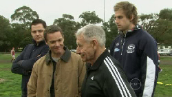 Nathan Black, Paul Robinson, Tom Haffey, Tom Lonergan in Neighbours Episode 5562