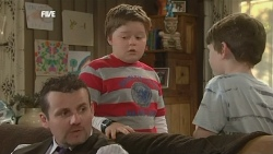 Toadie Rebecchi, Callum Jones, Ben Kirk in Neighbours Episode 5869