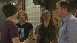 Zeke Kinski, Leigh Drysdale, Mia Zannis, Karl Kennedy in Neighbours Episode 5871
