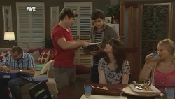 Karl Kennedy, Declan Napier, Zeke Kinski, Kate Ramsay, Donna Freedman in Neighbours Episode 5873