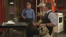 Callum Jones, Rocky, Toadie Rebecchi in Neighbours Episode 5873