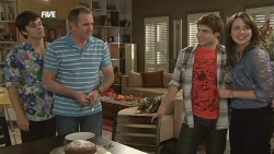 Zeke Kinski, Karl Kennedy, Declan Napier, Kate Ramsay in Neighbours Episode 5873