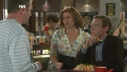 Karl Kennedy, Rebecca Napier, Paul Robinson in Neighbours Episode 5878