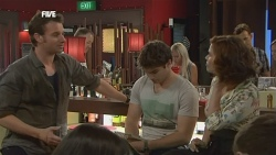 Lucas Fitzgerald, Declan Napier, Rebecca Napier in Neighbours Episode 5878