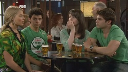 Donna Freedman, Zeke Kinski, Kate Ramsay, Declan Napier in Neighbours Episode 5883