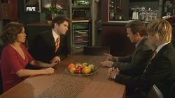 Rebecca Napier, Declan Napier, Paul Robinson, Andrew Robinson in Neighbours Episode 5886
