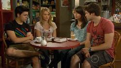 Zeke Kinski, Donna Freedman, Kate Ramsay, Declan Napier in Neighbours Episode 5890