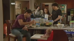 Declan Napier, Kate Ramsay, Sophie Ramsay, India Napier, Harry Ramsay in Neighbours Episode 5893