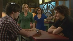 Chris Pappas, Steph Scully, Rebecca Napier, Harry Ramsay in Neighbours Episode 5896
