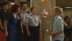 Harry Ramsay, Rebecca Napier, Constable Simone Page, Andrew Robinson in Neighbours Episode 5896