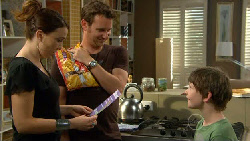 Libby Kennedy, Lucas Fitzgerald, Ben Kirk in Neighbours Episode 5899