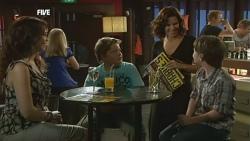 Libby Kennedy, Callum Jones, Rebecca Napier, Ben Kirk in Neighbours Episode 5902
