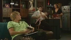 Andrew Robinson, Declan Napier, India Napier, Rebecca Napier in Neighbours Episode 5903