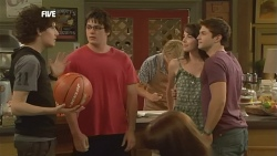 Harry Ramsay, Chris Pappas, Andrew Robinson, Kate Ramsay, Declan Napier in Neighbours Episode 5905