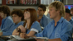Harry Ramsay, Summer Hoyland, Andrew Robinson in Neighbours Episode 5915
