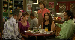 Karl Kennedy, Susan Kennedy, Lyn Scully, Libby Kennedy, Doug Harris in Neighbours Episode 5919