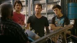 Lou Carpenter, Declan Napier, Lucas Fitzgerald, Zeke Kinski in Neighbours Episode 5922
