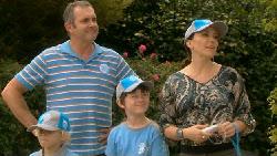 Charlie Hoyland, Karl Kennedy, Ben Kirk, Libby Kennedy in Neighbours Episode 5925