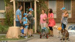 Karl Kennedy, Charlie Hoyland, Ben Kirk, Libby Kennedy, Susan Kennedy, Cat, Rebecca Napier, Steph Scully, Rocky, Harvey in Neighbours Episode 5925
