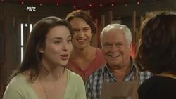Kate Ramsay, Declan Napier, Lou Carpenter, Rebecca Napier in Neighbours Episode 5926